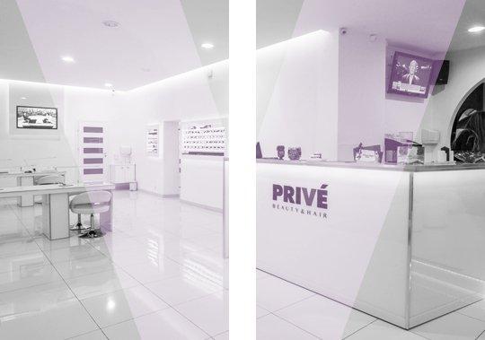 wnętrze salonu kosmetycznego Prive